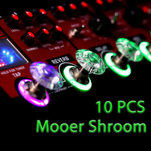 Mooer-SHROOMS-10pcs-Footswitch-Topper-Guitar-Effect-Pedal-Plastic-Bumpers