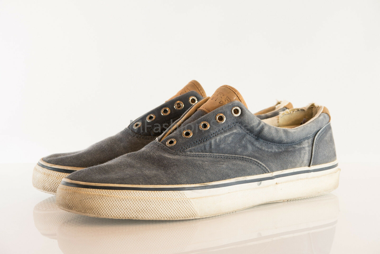 Sperry Blue Cotton Upper A14-61432 Mens Shoe Size US 12M Pre Pre 12M Owned Has some rips 55e168