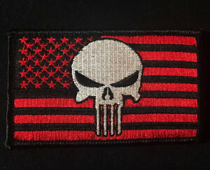 69b9860e24f0 USA PUNISHER US FLAG USA ISAF SEALS BLACK OPS RED VELCRO® BRAND ...