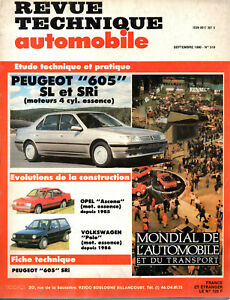 100% Vrai Rta Revue Technique L'expert Automobile N° 519 Peugeot 605 Sl Sri