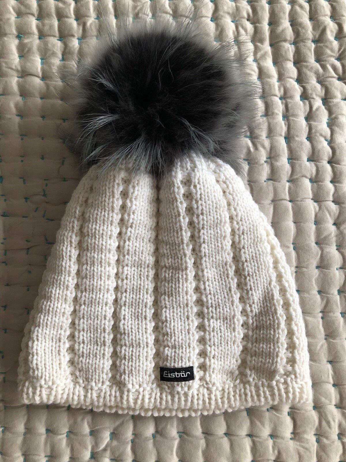 Eisbar Beanie Fur Pompon Hat Skiing