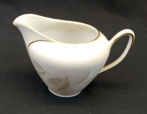 Winterling Bavaria Germany China Creamer Autumn Leaf Gold Rim Vintage