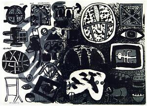 Kunst-in-der-DDR-Beidseitige-Serigraphie-Frieder-HEINZE-1950-D-handsigniert