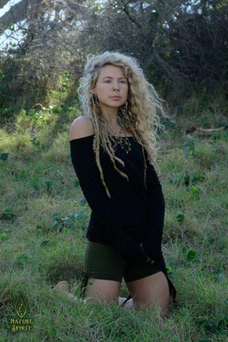 Fairy Tribal Pixie Tunic Top Festival Long Sleeve Off Shoulder Hippie