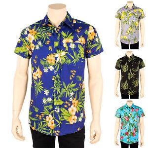 Mens new hawaiian shirt tropical print button down pot for Lsu hawaiian print shirts