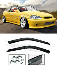 For 96-00 Civic EK Coupe 2Dr Rain Guard Shield Window Visors (CLIP ON) JDM Style
