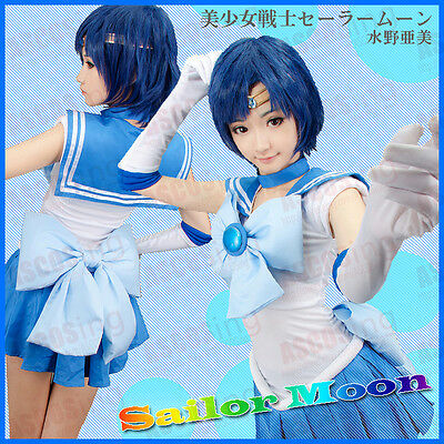 Sailor Moon Sailor Mercury Mizuno Ami Amy Anderson Cosplay Costume By ASCOSing