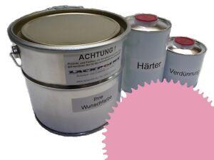 3 Liter Set 2K Floor Coating Ral 3015 Light Pink Shine Floor Color Workshop