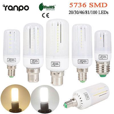 E27 E14 E12 B22 LED Corn Bulb 5736 SMD Light Corn Lamp ...