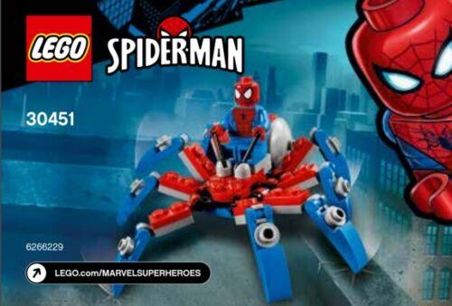 LEGO Marvel Spider-Man /'s Mini Spider Crawler 30451 polybag Entièrement neuf sous emballage