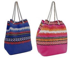 Spalla di tela/Spiaggia/Shopping Bag con Morbido Corda Cordino Top