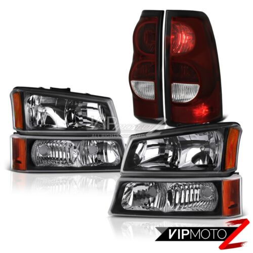 03-06 Chevy Silverado 2500Hd Rear Brake Lamps Black Headlamps Oe Style Assembly