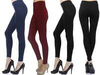Women's Plus Size Full-Length-Leggings-Stretch-Pants-Footless-Sz 1X 2X 3X