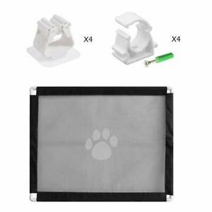 Pet Safe Gate Fences Indoor Safety Guard For Pets Dog Cat Isolated Gauze Flap UK