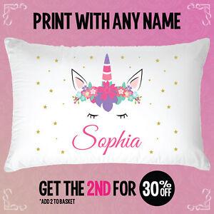 Image Is Loading Personalised Unicorn Party Gift Pillowcase Birthday Present Custom