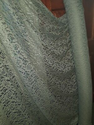 "1m Green sequin floral  lace  fabric  lace Wedding 58/"" wide sale"