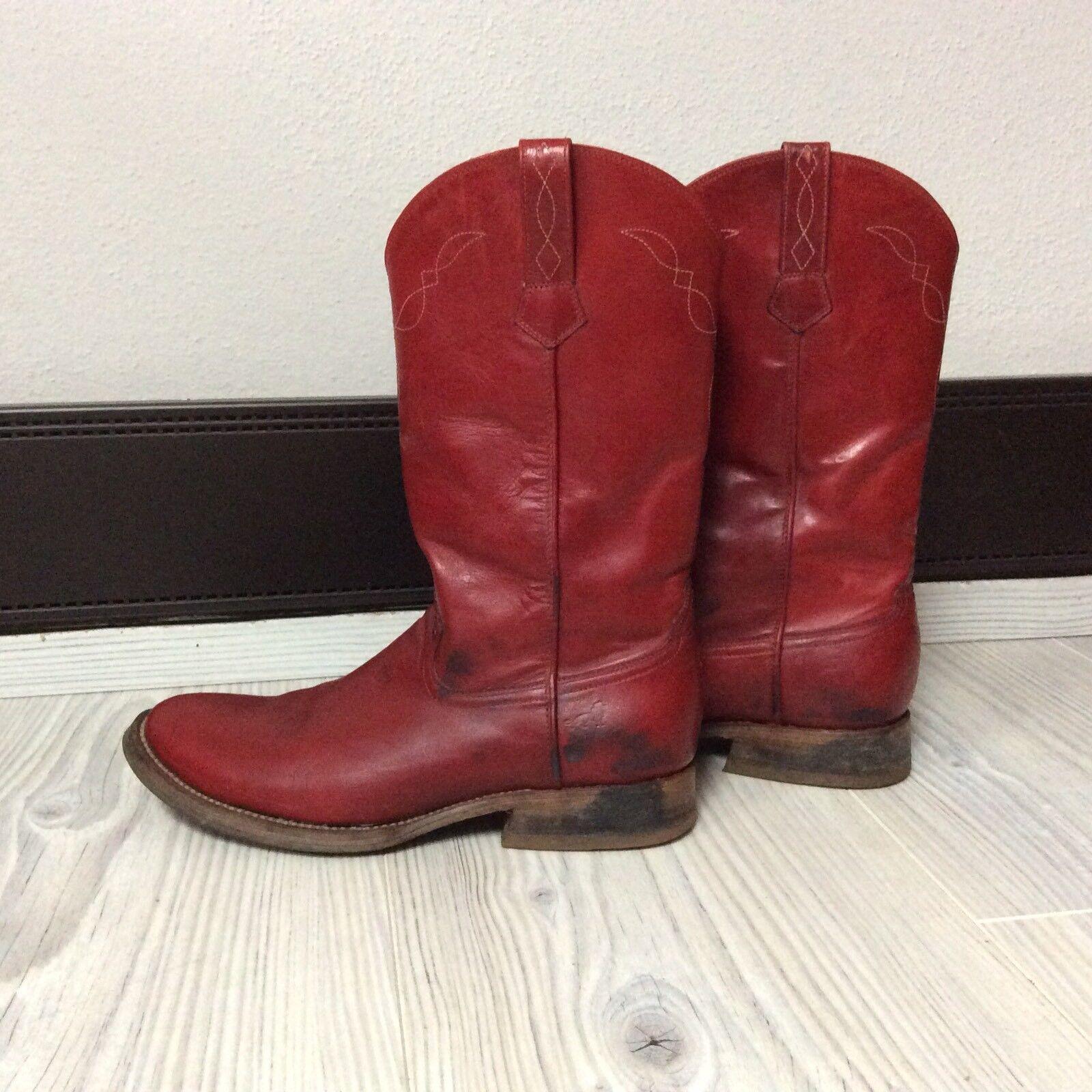 Tony Muzi Stiefel Rot 39,5 Gebraucht