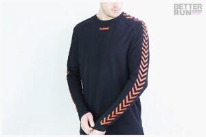 Hummel-Hive-Long-Manche-Agge-Shirt-Black-Orange