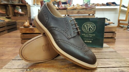 Brogue In New 054 Handmade Nps 055 Walnut England Shoes Brown tOqn0z