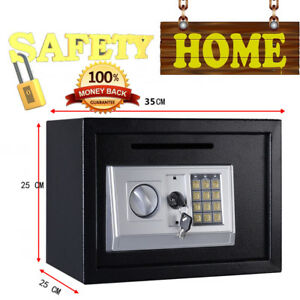 DIGITAL-STEEL-SAFE-BOX-ELECTRONIC-SECURITY-HOME-OFFICE-CASH-SAFETY-WHITE-BLACK