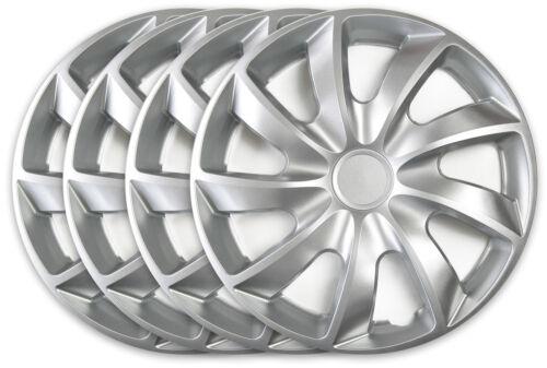 4 Stück Radkappen Radzierblenden 15 Zoll Silber für Peugeot