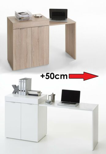 """Stretch2"" Expanding PC Desk, Laptop Table With Cabinet Cupboard"
