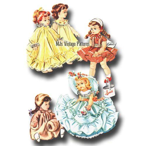 "Vtg 50s Doll Clothes Dress Pattern~ 11/"" 12/"" 13/"" Baby Doll Tiny Tears Betsy Wetsy"