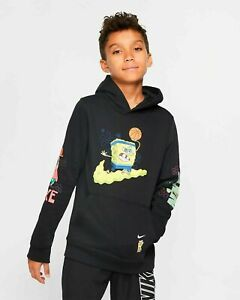Yellow Nike Spongebob Kyrie Irving Hoodie Basketball Boys Youth Sz S-XL Black