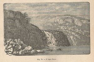 A1756 Il Lago Nero - Xilografia - Stampa Antica Del 1895 - Engraving