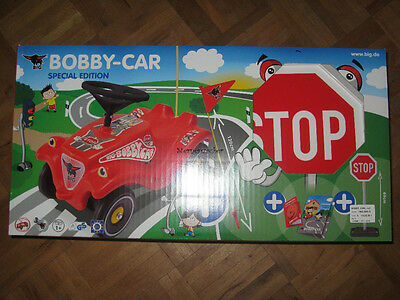 Besorgt Big Bobby Car Bobby-car Rot Special Edition Mit Stopschild Verkehrsbuch Buch GroßEs Sortiment Bobby Car