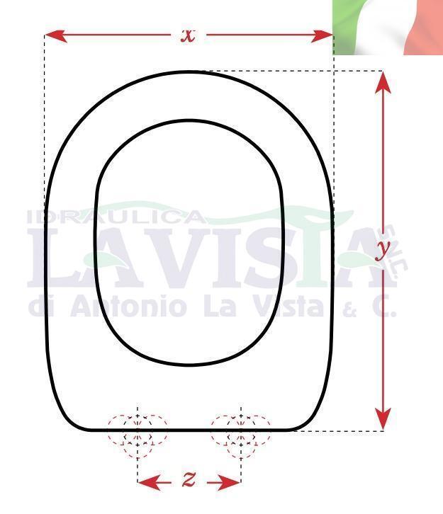 DELTA DELTA DELTA COPRIWC ARTIGIANALE IN LEGNO PER WC  SAHARA  CM.X34 Y45 Z16 309304