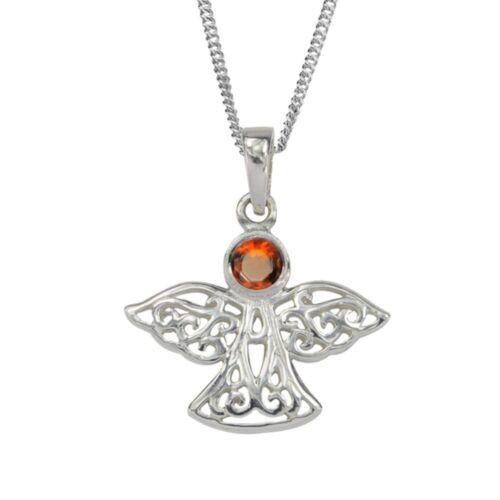 9033 Celtic Birthstone Angel January Garnet