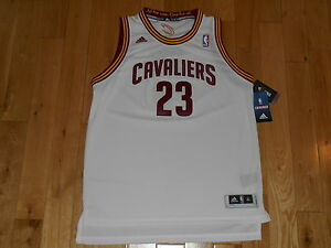 release date: 1a290 dd652 Details about Adidas LEBRON JAMES White CLEVELAND CAVALIERS Youth NBA Team  SWINGMAN JERSEY XL