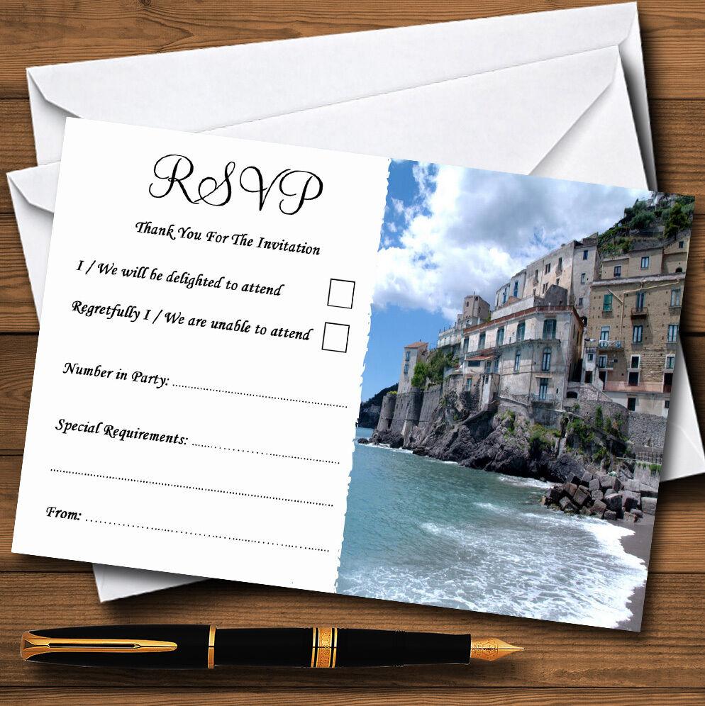 Italie cartes Côte amalfitaine personnalisé mariage ou fête RSVP cartes Italie e11a2c