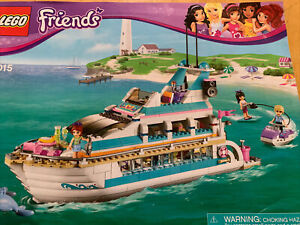 Lego Friends Dolphin Cruiser 41015  Almost Complete w Instructions. Retired TL1