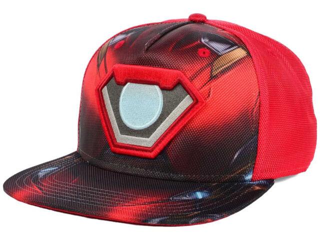 Marvel Ballistic Iron Man Armor Flat Snap-back Cap   eBay