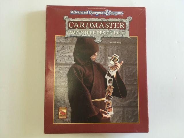 Card Master Adventure Design Deck Box Set Advanced Dungeons & Dragons 2nd Ed