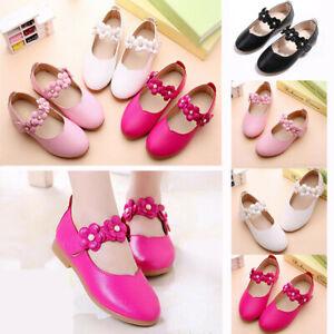 Baby Kids Toddler Infant Girls Flats Wedding Party Princess Shoes Gift Elegant V
