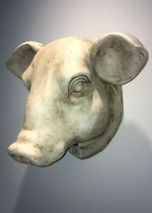 ANTIQUE ITALIAN REPLICA LION HEAD WALL FONT SCULPTURE ART Garden Pool Statue Mom