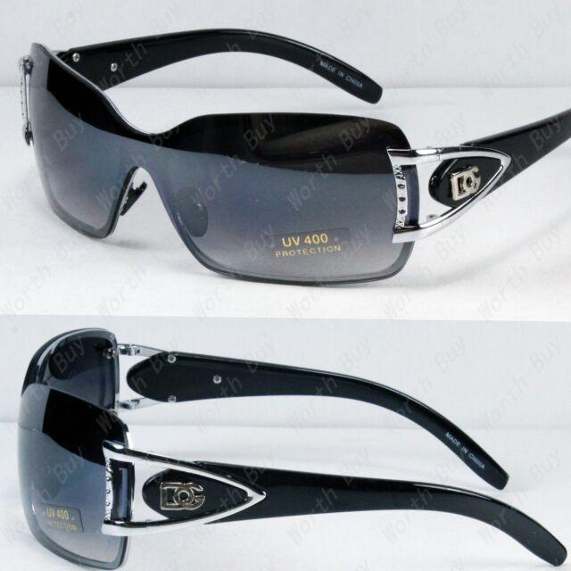 New DG Butterfly Womens Designer Shield Wrap Sunglasses Fashion Black Shades