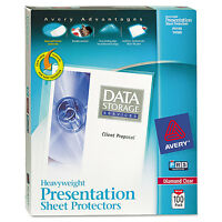 Avery Top-load Poly Sheet Protectors Heavy Gauge Letter Diamond Clear 100/box on sale