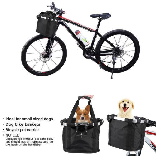 Bicycle Front Handlebar Basket Detachable Bag Pet Dog Carrier Bag Bike Baskets B