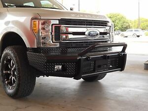 New Ranch Style Bullnose Winch Mount Front Bumper 2017 Ford F250