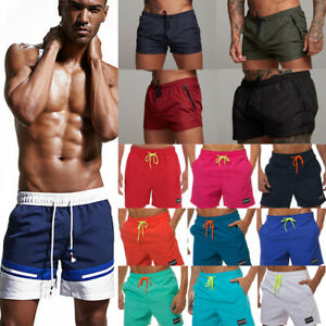 Men-Jogger-Fitness-Beach-Sport-Shorts-Swimming-Training-Summer-Gym-Stretch-Pants