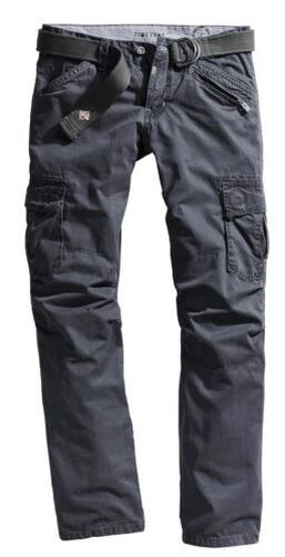 Timezone Men's Cargo Trousers Benito TZ 25-0155-3180-9033 Loose Fit bluee