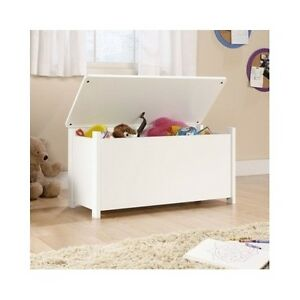 Image Is Loading Kids Toy Box Storage Chest White Bedroom Furniture
