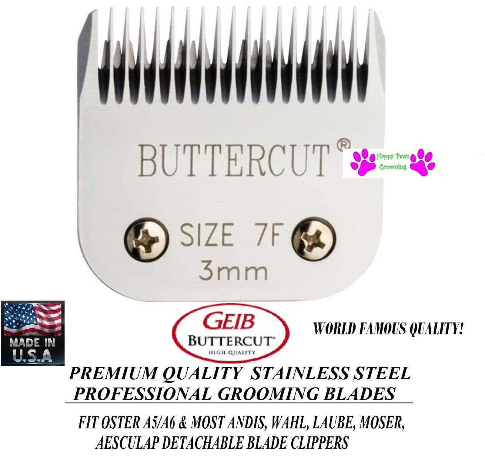 Geib Buttercut 7F 7FC Lama 0.3cm Tolettatura Animali Domestici per più
