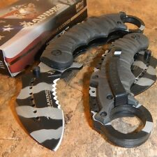 USMC OFFICIAL US MARINES Spring Assisted Open CAMO KARAMBIT Ring Finger Knife!!