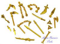 Lego Ninjago Ninja Minifig Gold Weapon Set W/golden Dragon Minifigure Sword