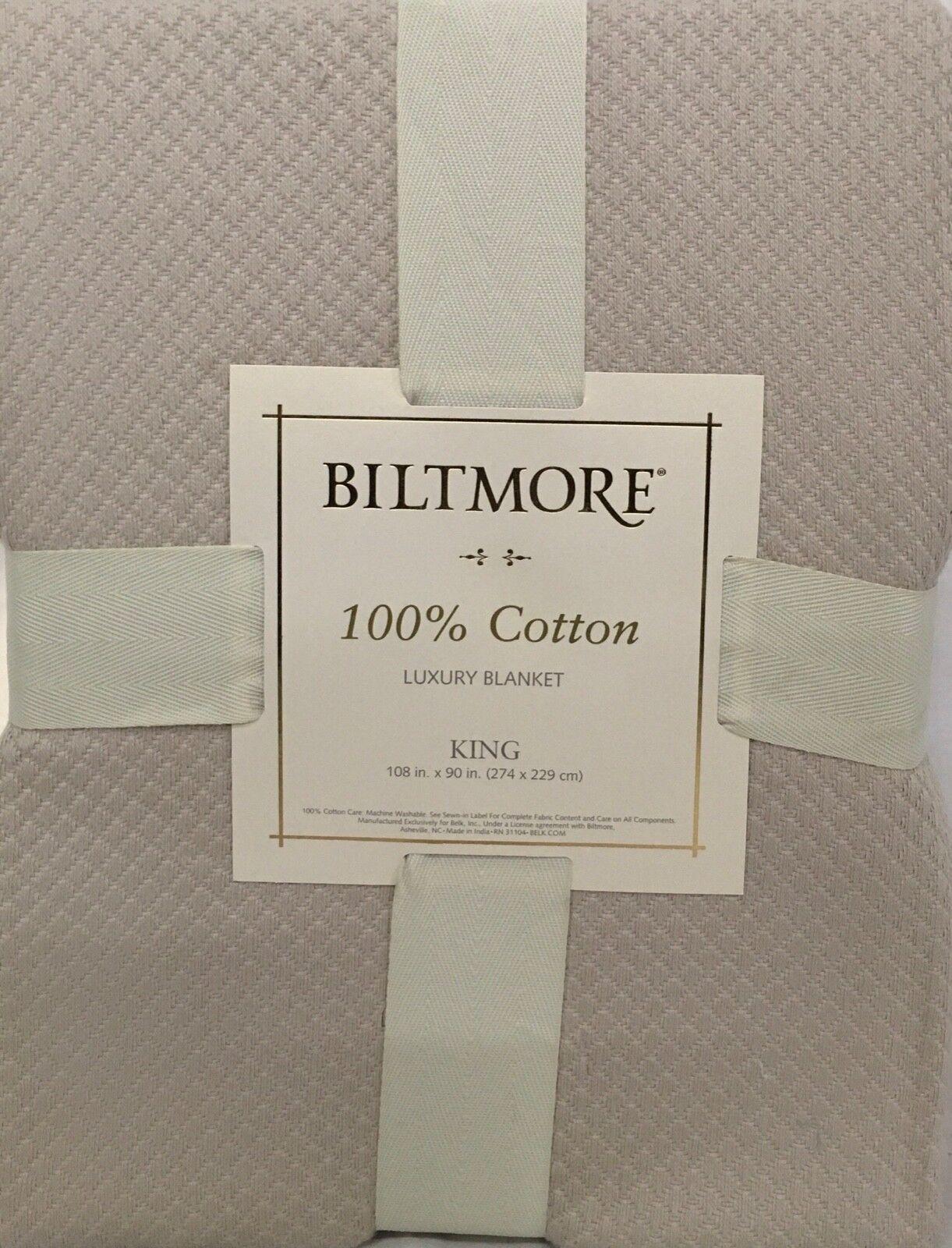 Biltmore Cotton Blanket KING - Koala Khaki